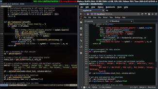 Editing Python in Neovim and JupyterLab.
